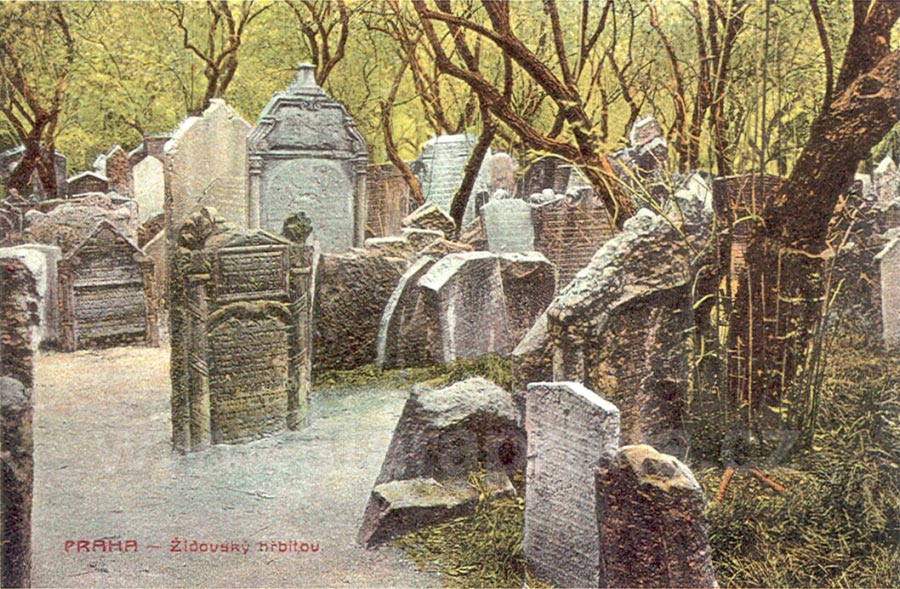 Image result for jewish cemetery in prague painting