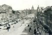 447 - A photograph of Wenceslas Square taken from the corner house Zlatý úl (The Golden Beehive)